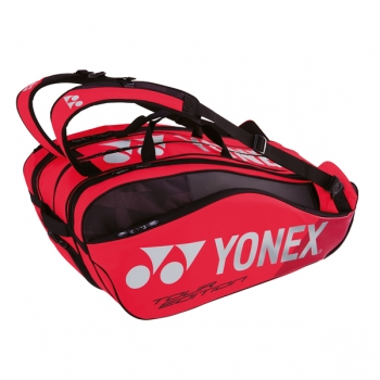 Yonex Pro Racket Bag 9er Tennistasche Flame-Red
